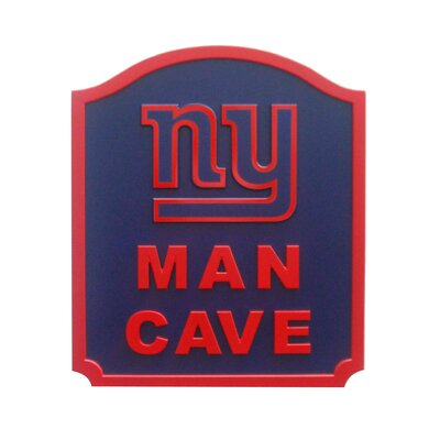 NFL 'Man Cave Shield' Graphic Art Print on Wood Team: New York Giants N0571-NYG