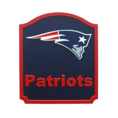 NFL Shield Textual  Art Plaque NFL Team: New England Patriots N0574-NEP