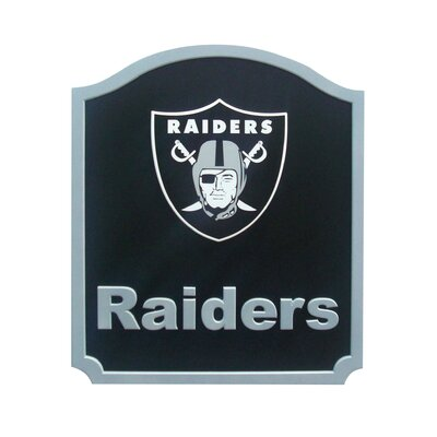NFL 'Shield' Graphic Art Print on Wood Team: Oakland Raiders N0574-OAK