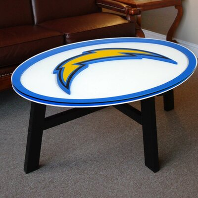 NFL Logo Coffee Table NFL Team: San Diego Chargers
