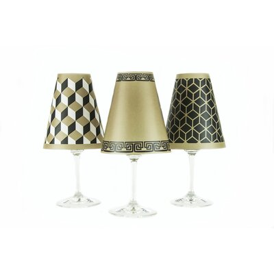 New York 4.5 Paper Empire Candelabra Shade Color: Bronze