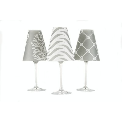 Caribbean 4.5 Paper Empire Candelabra Shade Color: Gray Fog