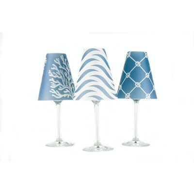 Caribbean 4.5 Paper Empire Candelabra Shade Color: Sea Blue