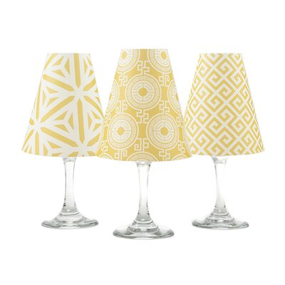 Athens 4.5 Paper Empire Candelabra Shade Color: Antique Yellow