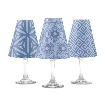 Athens 4.5 Paper Empire Candelabra Shade Color: River Blue