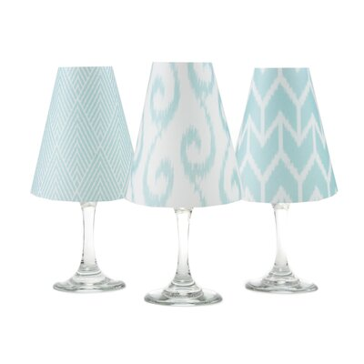 Ikat 4.5 Paper Empire Candelabra Shade Color: Aqua