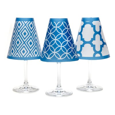 Barcelona 4.5 Paper Empire Candelabra Shade Color: Isle Blue