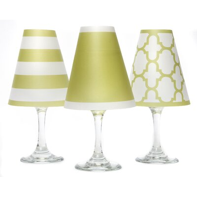 Nantucket 4.5 Paper Empire Candelabra Shade Color: Oasis Green
