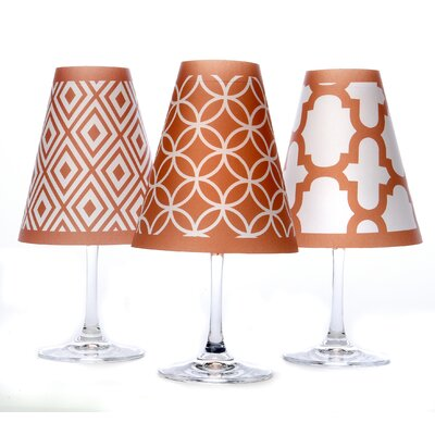 Barcelona 4.5 Paper Empire Candelabra Shade Color: Fiesta Orange