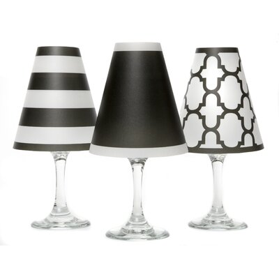 "Nantucket 4.5"" Paper Empire Candelabra Shade Color: Black KI123"