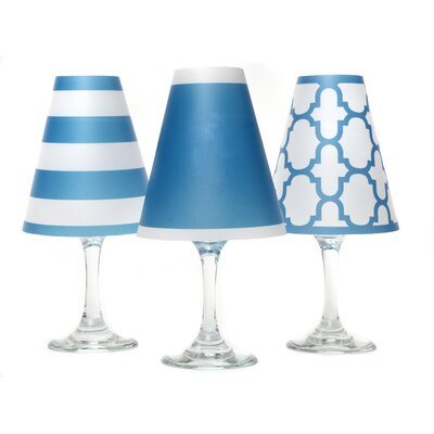 Nantucket 4.5 Paper Empire Candelabra Shade Color: Isle Blue