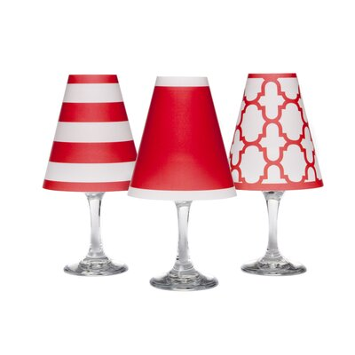 Nantucket 4.5 Paper Empire Candelabra Shade Color: Poppy Red