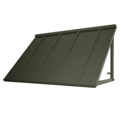 """AWNTECH Houstonian Standing Seam Slope Awning - Color: Pewter, Size: 24"""" H x 68"""" W x 36"""" Projection at Sears.com"""
