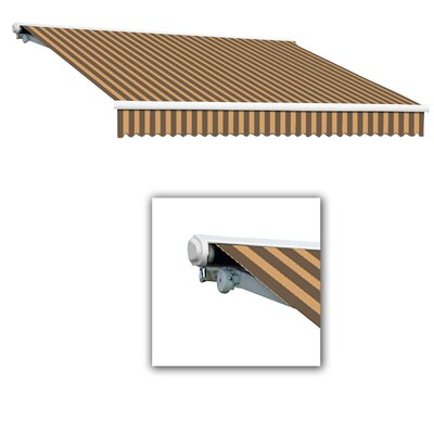 AWNTECH Galveston Semi-Cassette Awning - Size: 14' W x 10' Projection, Color: Brown / Tan, Motor Orientation: Right Side at Sears.com