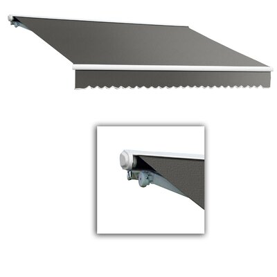 AWNTECH Galveston Semi-Cassette Awning - Color: Gray, Size: 20' W x 10' Projection, Motor Orientation: Right Side