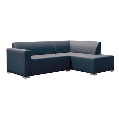 Torino Left Corner Sofa Finish: Blue
