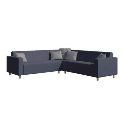 Frejus Sectional Sofa with Cushions Finish: Blue