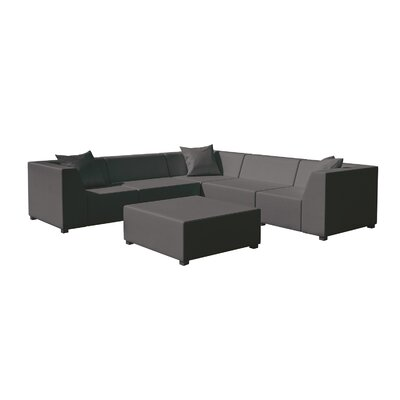 Amsterdam 3 Piece Seating Group Set Finish: Graphite