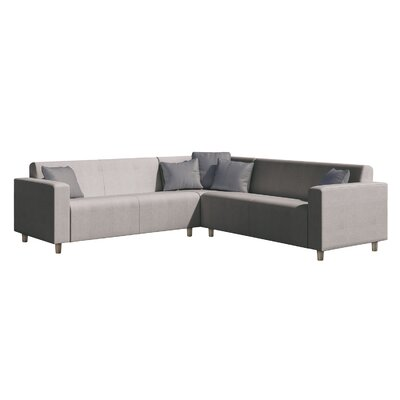 Frejus Sectional Sofa with Cushions Finish: Light Gray