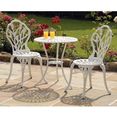 Tulip 3 Piece Bistro Set with Cushion