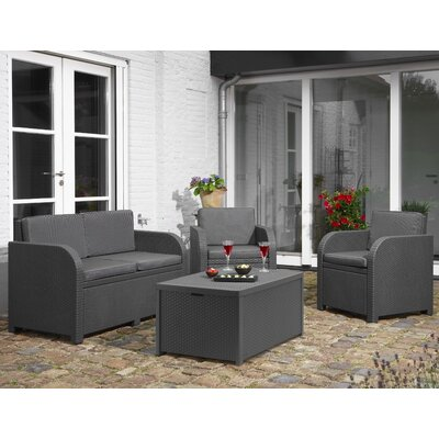 Modena Lounge 4 Piece Deep Seating Seating Group