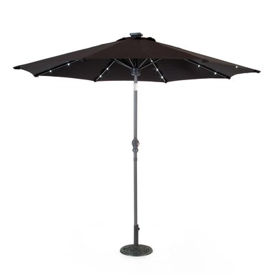 Venice 9 Market Umbrella with Solar Powered Speaker