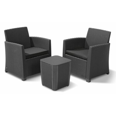 Venetta 3 Piece Lounge Seating Group with Cushion