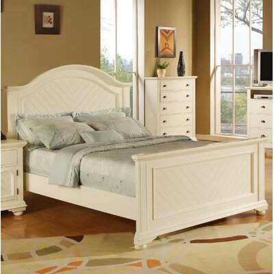 Hyde Park Panel Bed Size: King, Color: White