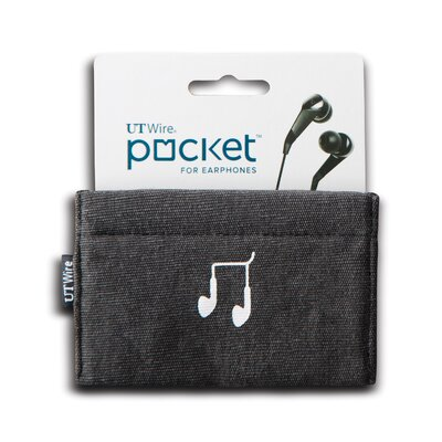Cable Management Pocket for Earphone Color: Black