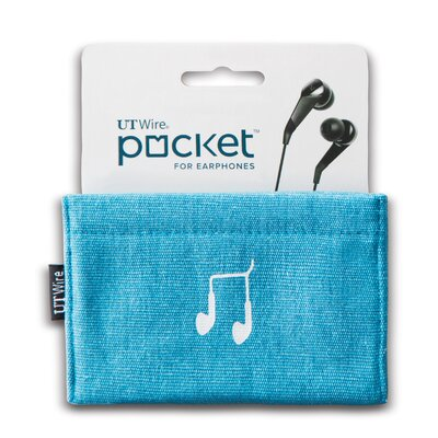 Cable Management Pocket for Earphone Color: Blue