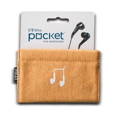 Cable Management Pocket for Earphone Color: Orange