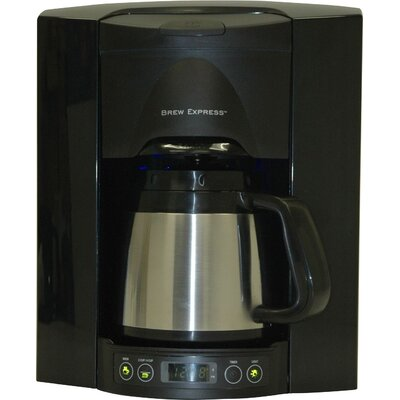 4 Cup Built-In-The-Wall Self-Filling Coffee and Hot Beverage System Finish: Black BE-104R-113A