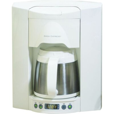4 Cup Built-In-The-Wall Self-Filling Coffee and Hot Beverage System Finish: White BE-104R-223A