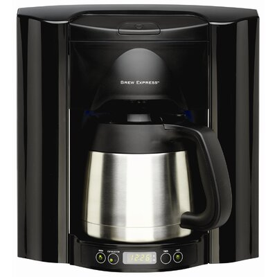 10 Cup Built-In Self-Filling Coffee and Hot Beverage System Finish: Black BE-110 BB