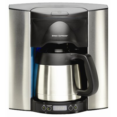 10 Cup Built-In-The-Wall Self-Filling Coffee and Hot Beverage System Stainless Steel Finish BE-110 BS