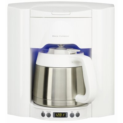10 Cup Built-In Self-Filling Coffee and Hot Beverage System Finish: White BE-110 WW