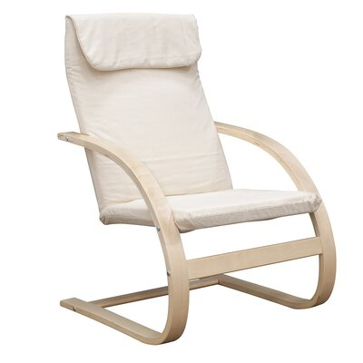 Mia Chair Upholstery: Beige, Finish: Natural