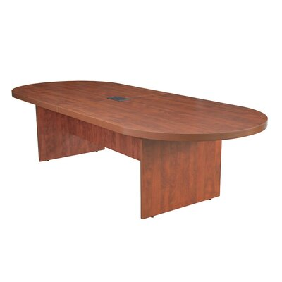 Linh Oval Wood Conference Table Finish: Cherry, Size: 12 L