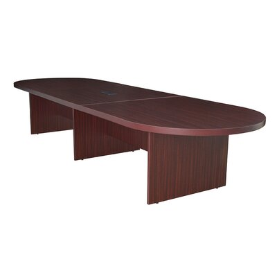 Linh Oval Conference Table Finish: Mahogany, Size: 14 L