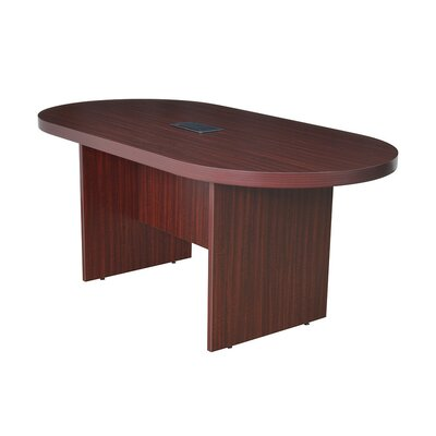 Legacy Oval Conference Table Finish: Mahogany, Size: 6 L
