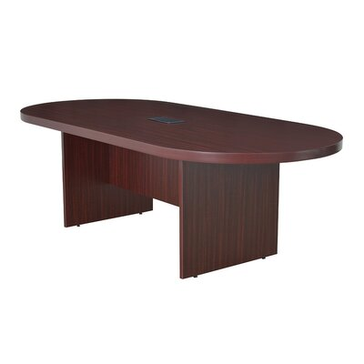 Legacy Oval Conference Table Finish: Mahogany, Size: 8 L