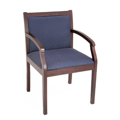 Regent Guest Chair Finish: Mahogany, Fabric: Blue