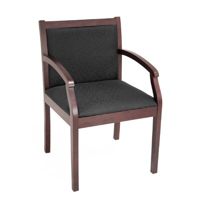 Linh Guest Chair Finish: Mahogany, Fabric: Black