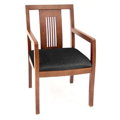Preston Guest Chair Finish: Cherry, Fabric: Black