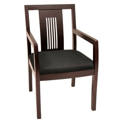 Preston Guest Chair Finish: Mahogany, Fabric: Black