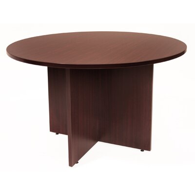 Legacy Circular Conference Table Size: 4 L Diameter, Finish: Mahogany