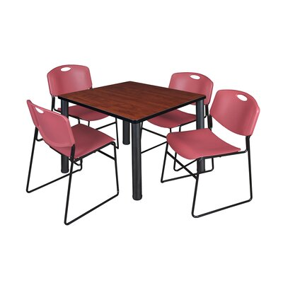 Kee Square Table Base Finish: Black, Top Finish: Cherry, Size: 29 H x 36 W x 36 D