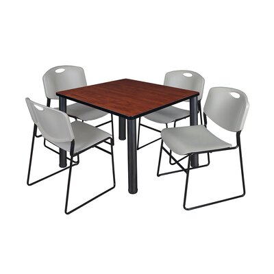 Kee Square Table Base Finish: Black, Top Finish: Cherry, Size: 29 H x 36 W x 36 D