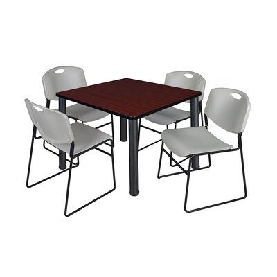 Kee Square Table Base Finish: Black, Size: 29 H x 36 W x 36 D, Top Finish: Mahogany