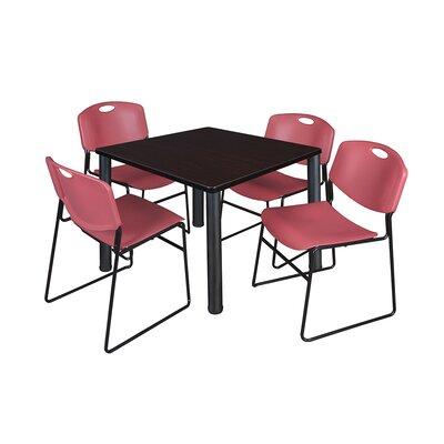 Kee Square Table Base Finish: Black, Size: 29 H x 36 W x 36 D, Top Finish: Mocha Walnut
